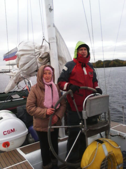 Маргарита Сивакова на вахте